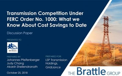 Transmission Competition Under FERC Order No. 1000: What we Know About Cost Savings to Date