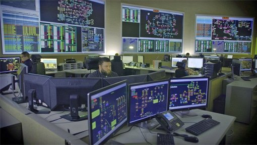 Control center for electric grid